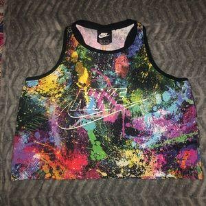 Nike Women's Sportswear Splatter Crop Tank Top